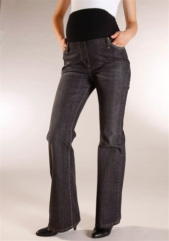 Umstandsjeans Boot Cut Black