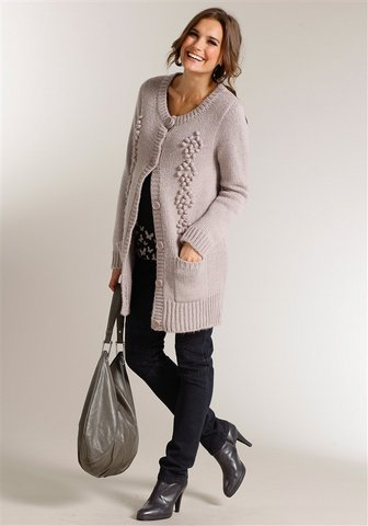 Long Strickjacke